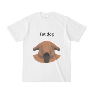 太った犬のTシャツ