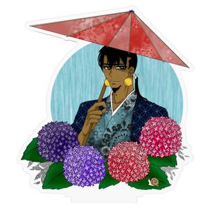 番傘と紫陽花