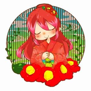 椿姫アクリルキーホルダー