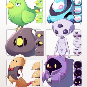 商用可オリジナルマスコットキャラクター6種