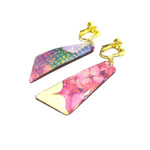 ピアス/イヤリング「pink flowers(1)」