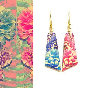 ピアス/イヤリング「twin flowers(2)」