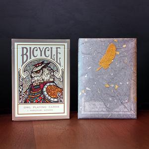【ホワイトデー包装版】Bicycle Owl Playing Cards (カスタムバイスクル フクロウ オリジナル トランプ )