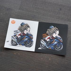 見栄子with隼アクリルキーホルダー&ステッカー