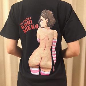 バクプリTシャツ見栄子生尻・黒ver