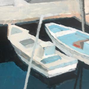 入り江の船