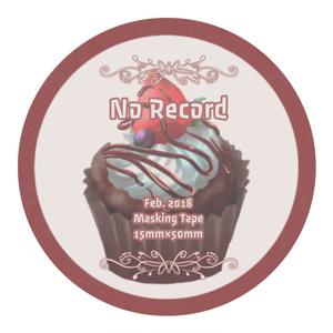 No Record バレンタイン マステ 2018冬