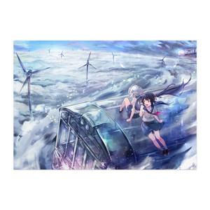 空奏列車イラストポスター