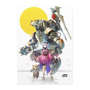 干支モチーフ(戌)イラストポスター