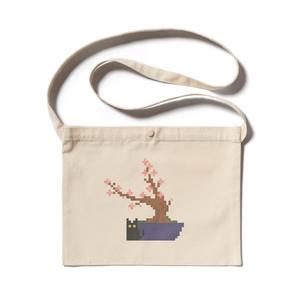 猫と桜(サコッシュ)