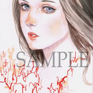 水彩原画「Rin」オリジナル