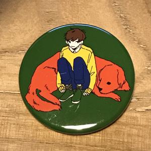 動物男子缶バッジ-イヌ