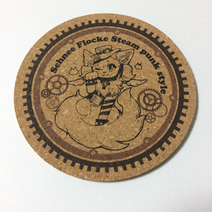 スチームパンクスタイルシュネーちゃんコルクコースター