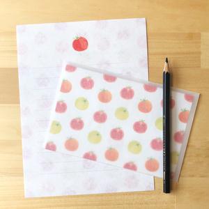 ざらざら紙のレターセット 「ミニトマト」