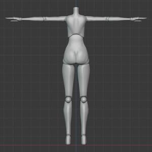 [3Dモデル]球体関節人形素体
