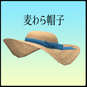 [3Dモデル]麦わら帽子 [straw hat]