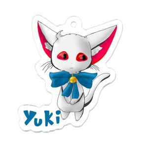 白猫ユキちゃん アクリルキーホルダー 50 x 50 (mm)