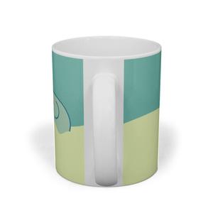 象と鳥のマグカップ
