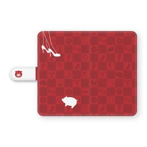 豚さんの手帳型Androidケース