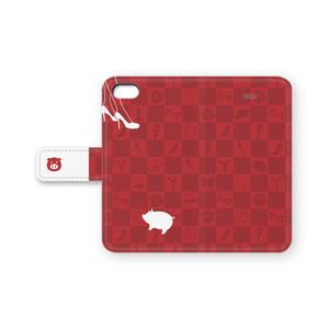 豚さんの手帳型iPhoneケース