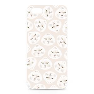 iPhone 猫のプラスチック型スマホケース 肉まんポンコ