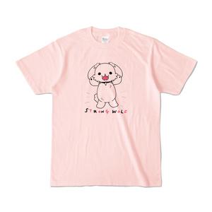 ストロングうるふTシャツピンク