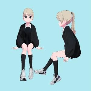 VRC用座りIdleモーション01_(Sitting Idle Motion)_Mir