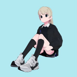 VRC用座りIdleモーション_02(Sitting Idle Motion)_Mir