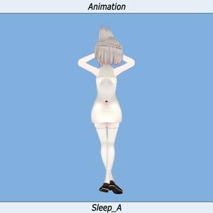 VRC用 【睡眠】 Idleモーション_01(Sleeping Idle Motion)_Kyoko