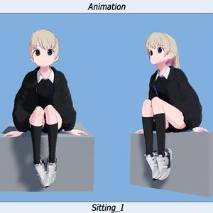 VRC用座りIdleモーション_03(Sitting Idle Motion)_Mir