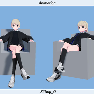 VRC用座りIdleモーション_04(Sitting Idle Motion)_Mir