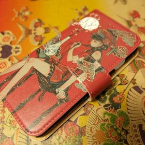 月下少女-ニア-手帳型iPhoneケース
