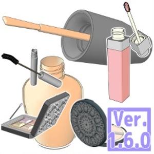 3D コスメ 素材集(クリスタ1.6.0~用・コミスタ用)
