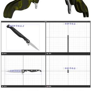 3D 飛び出しナイフ(クリスタ用1.6.0~専用)