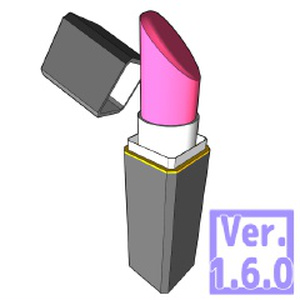 3D リップスティック 口紅(クリスタ1.6.0~専用)