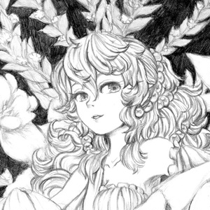(モノクロ原画)花の玉座