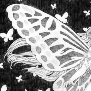(モノクロ原画)蝶の軌跡