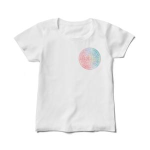 ホツマ文字フトマニ図レディースTシャツ