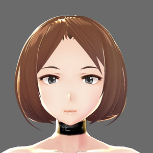 【VRoid用テクスチャ】首輪チョーカー(黒&赤 2種類)