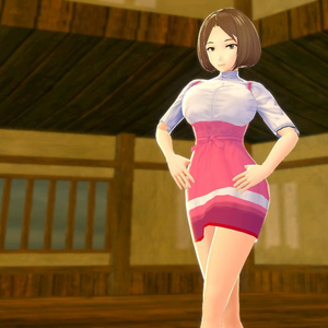 【vroid】アンミラ風ファミレス制服コスチューム
