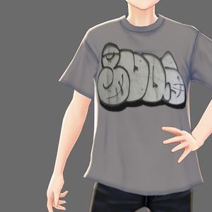 【VRoid】ストリートグラフティTシャツ4種類【男女兼用】