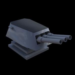 【3Dモデル】砲塔、戦艦らしきパーツ