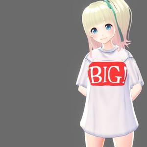 【VRoid】BIG(のロゴ)&動画アイコンTシャツ【Tシャツ】
