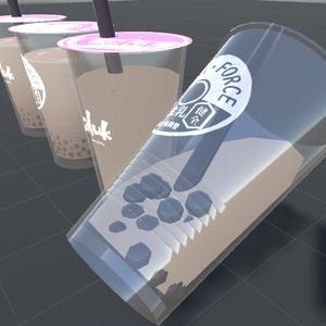 タピオカミルクティー3Dモデル