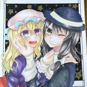 【大色紙】宇佐見蓮子&マエリベリー・ハーン