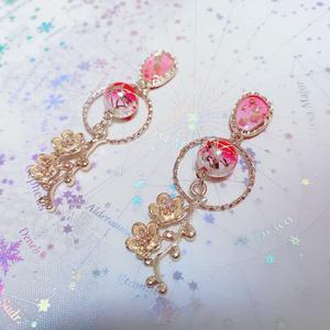 梅の花の和風ピアス/イヤリング
