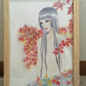 照葉/水彩画 原画