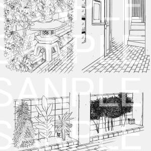 【セット】アパートA1~A5×73カット+自転車(おまけ)