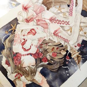 【水彩原画】深海の嫁