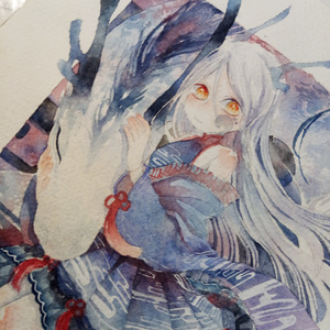 【水彩原画】龍の娘